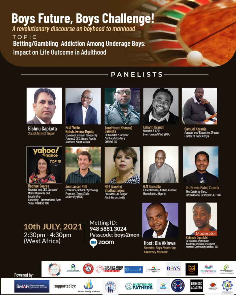 Nigeria NGO Launches Global Dialogue on Boys Future, Boys Challenge